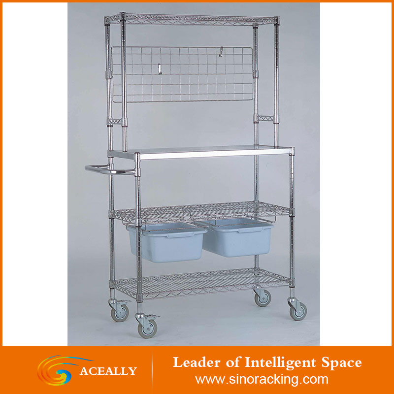 Heavy Duty Standard Metal Chrome Wire Shelving
