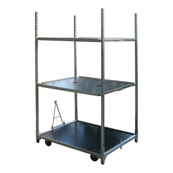 Galvanized flower trolley