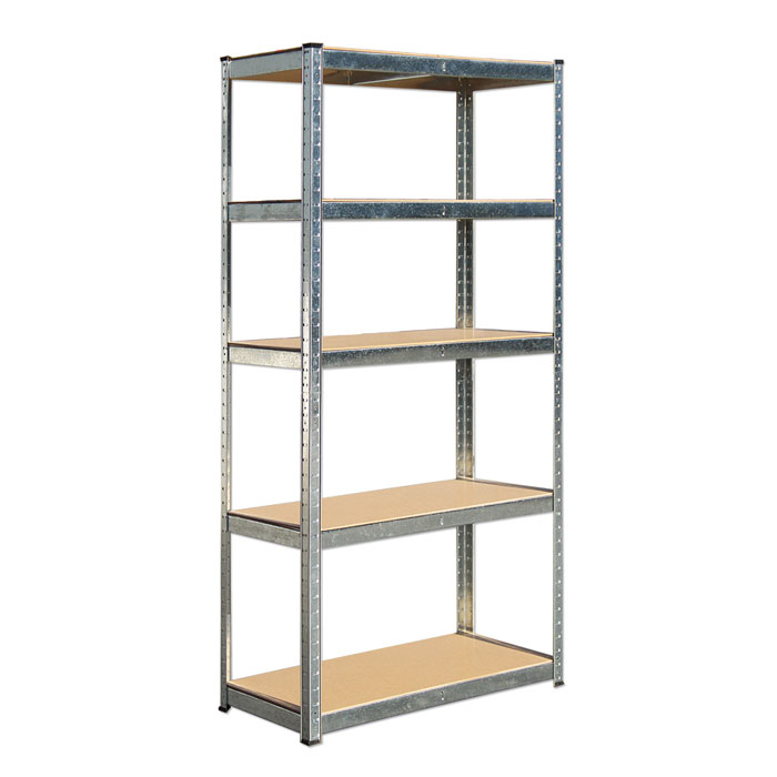 Crimped Column Light Duty Shelving for Warehouse Storage