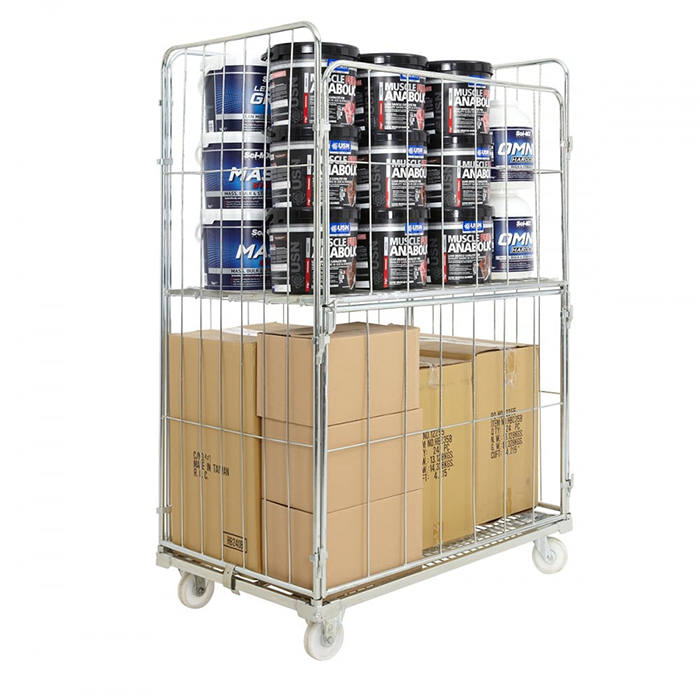 rolling container trolley